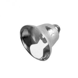 """Металлическая подвеска """"Колокольчик"""", цвет серебро, 14мм ― HandMadeDecor"""