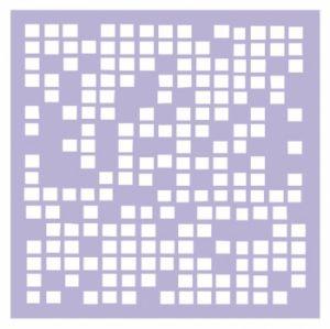"Трафарет-маска EVENT DESIGN пластиковый МСК-001 ""Клетка"", размер 15х15см  - ПОДАРОК (при покупке на 1000 руб)  ― HandMadeDecor"