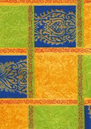 Бумага для техники DECOPATCH, арт 318, сине-желтые квадраты, 30x39см ― HandMadeDecor