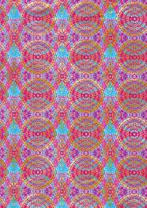 Бумага для техники DECOPATCH, арт 394, красно-голубые орнаменты, 30x39см ― HandMadeDecor