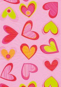 Бумага для техники DECOPATCH, арт 417, сердца на розовом фоне, 30x39см ― HandMadeDecor