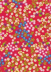 Бумага для техники DECOPATCH, арт 383, цветы на красном фоне, 30x39см  ― HandMadeDecor