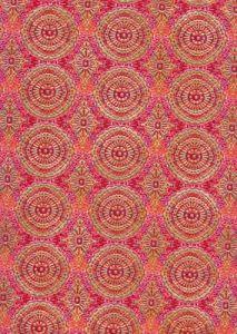 Бумага для техники DECOPATCH, арт 393, красно-оранжевые орнаменты, 30x39см ― HandMadeDecor