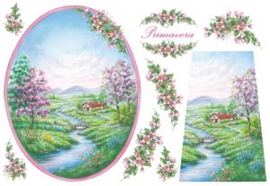 Декупажные карты рисовые Stamperia, 33х48, DFS 066  Весенние пейзажи ― HandMadeDecor
