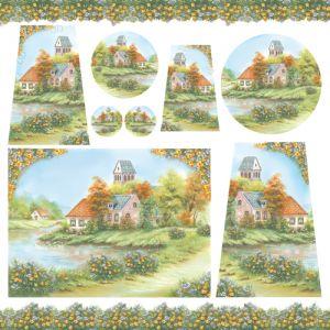 Рисовая салфетка STAMPERIA, арт. DFT199, 50х50см - Весна на озере  ― HandMadeDecor
