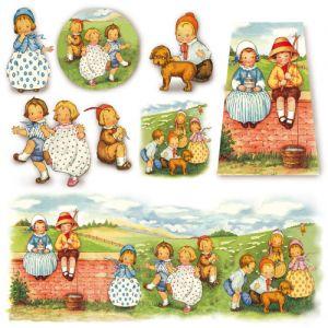 Рисовая салфетка STAMPERIA, арт. DFT204, 50х50см - Ребятишки ― HandMadeDecor
