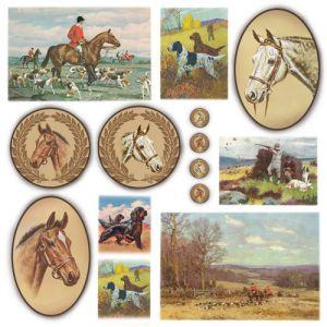 Рисовая салфетка STAMPERIA, арт. DFT207, 50х50см - Лошади ― HandMadeDecor