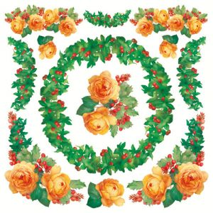 Рисовая салфетка STAMPERIA, арт. DFT233, 50х50см Розы в гирлиндах ― HandMadeDecor
