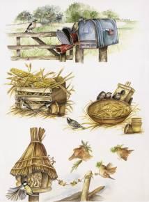 Рисовая бумага с рисунком DECOMANIA, арт. Д5002 ― HandMadeDecor