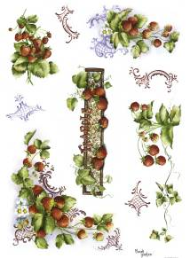 Рисовая бумага с рисунком DECOMANIA, арт. Д5021 ― HandMadeDecor