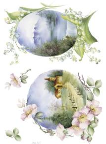 Рисовая бумага с рисунком DECOMANIA, арт. Д5029 ― HandMadeDecor