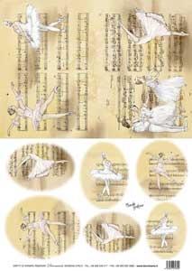 Рисовая бумага с рисунком DECOMANIA, арт. Д5041 ― HandMadeDecor