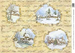 Рисовая бумага с рисунком DECOMANIA, арт. Д5043     ― HandMadeDecor
