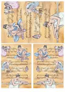 Рисовая бумага с рисунком DECOMANIA, арт. Д5061 ― HandMadeDecor