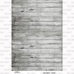 Декупажная карта  DECORITI 100947, формат А4, Брашированное дерево ― HandMadeDecor