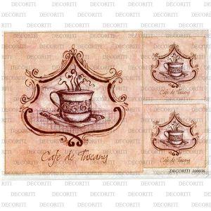 Рисовая бумага с рисунком DECORITI 100036, формат А4, Кофе по-Тоскански ― HandMadeDecor