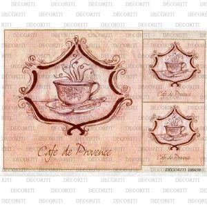 Рисовая бумага с рисунком DECORITI 100039, формат А4, Кофе по-провански ― HandMadeDecor