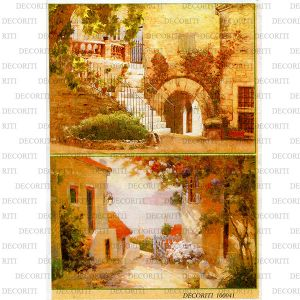 Рисовая бумага с рисунком DECORITI 100041, формат А4, Южные дворики ― HandMadeDecor