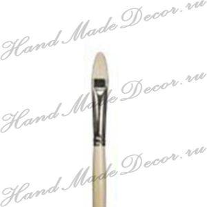 """Кисть щетина """"Sonnett"""" овальная №05 (11 мм), длинная ручка  - РАСПРОДАЖА   (скидки не действуют)  ― HandMadeDecor"""