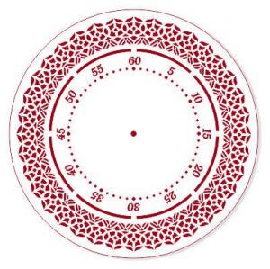 "Трафарет EVENT DESIGN пластиковый многоразовый ""Элегант, диаметр 25 - 33"", диаметр 25см ― HandMadeDecor"