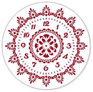 "Трафарет EVENT DESIGN пластиковый многоразовый ""Элегант, диаметр 30 - 22"", диаметр 30см   ― HandMadeDecor"
