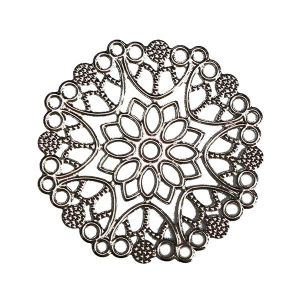 Накладной элемент 5 см, цвет серебро (без крепежа) ― HandMadeDecor
