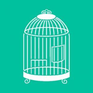"Трафарет-маска пластиковый ""Birdcage"", размер 15х15см, упаковка 1шт ― HandMadeDecor"