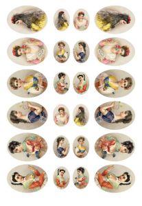 бумага малберри Calambour PAU 25, женские портреты ― HandMadeDecor