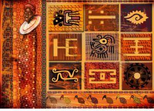 """Переводная карта A2A для светлых поверхностей, PC000031 """"Африканские мотивы"""", формат А4  ― HandMadeDecor"""