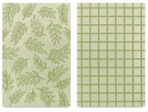 """Набор текстурных пластиковых пластин Texture Makers """"Ferns&Squar"""", 2 листа ― HandMadeDecor"""