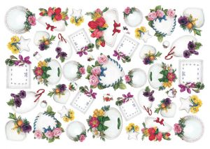 бумага малберри Calambour PAU 73 рамочки с цветами ― HandMadeDecor