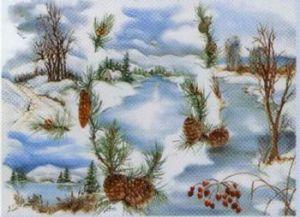 Рисовая бумага с рисунком DECOMANIA, арт. Д5001  ― HandMadeDecor