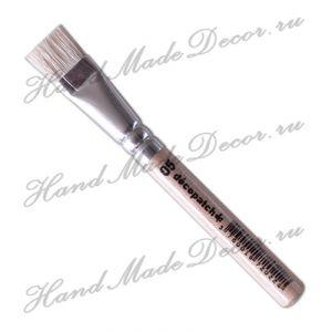 Кисть Decopatch, щетина, плоская № 5, ручка 9 см   ― HandMadeDecor