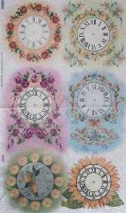 Рисовая бумага Esprimo № 554 Часы 2 - РАСПРОДАЖА (скидки не применяются)  ― HandMadeDecor