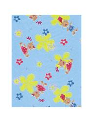 Бумага для техники DECOPATCH, арт 403, мишки/цветы на голубом, 30x39см ― HandMadeDecor