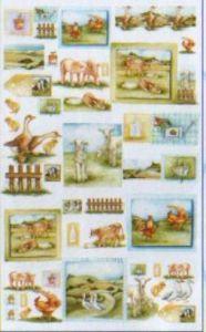 Рисовая бумага Esprimo № 511 Ферма ― HandMadeDecor