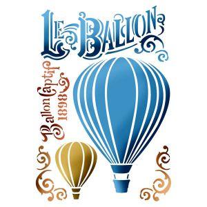 Трафарет STAMPERIA, Воздушный шар, 21х29,7см  ― HandMadeDecor