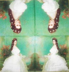 Салфетка для декупажа, 1189, Сисси в белом платье ― HandMadeDecor