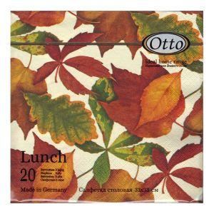 Салфетка для декупажа, 1724, 33х33 см, Осенние листья ― HandMadeDecor