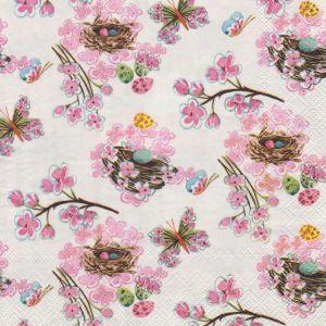 Салфетка для декупажа, 1821, 33х33 см, птичьи гнезда  ― HandMadeDecor
