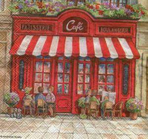 Салфетка для декупажа, 2103 Парижское кафе ― HandMadeDecor