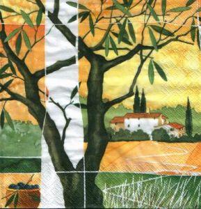 Салфетка для декупажа, 5263 тосканские пейзажи ― HandMadeDecor