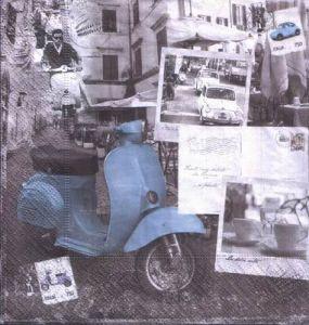 Салфетка для декупажа, 7899 - итальянская жизнь ― HandMadeDecor